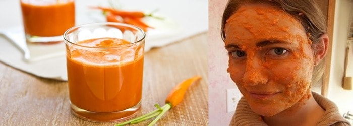 apply Fresh Carrot Juice on your face साठी प्रतिमा परिणाम